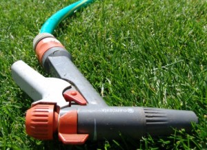 Garden Hose With a Spray Neck