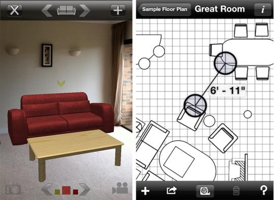 future gadgets 7 apps to help you decorate like a pro. Black Bedroom Furniture Sets. Home Design Ideas