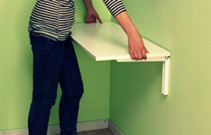 Affix shelf on a foldong table