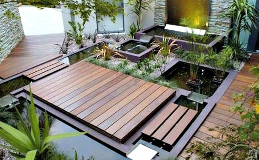 Backyard Wooden Deck