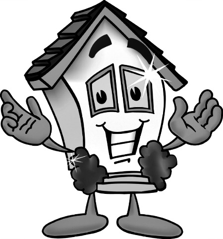 Smiling House Clipart