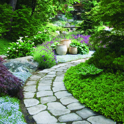 Cobble Stone Garden Path