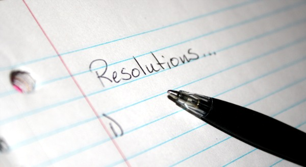New Year Resolution Paper Lists