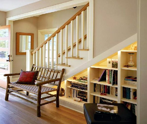 Stairs Bookcase Idea