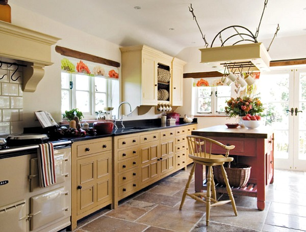 Kitchen With a Smoke Alarm Away From The Stove