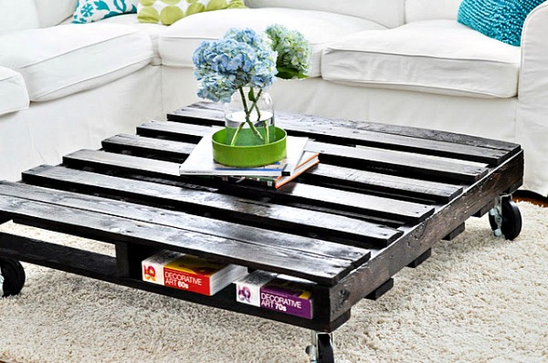 Old Wooden Pallet Coffee Table
