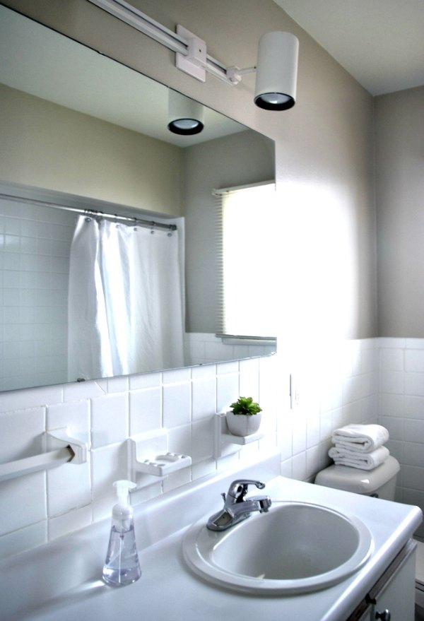 Tiny bathroom lights