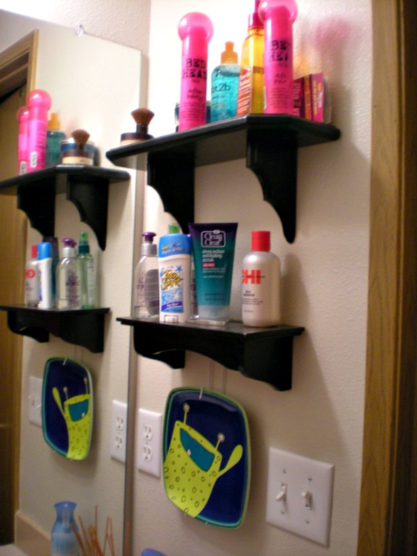Vertical storage with shelving