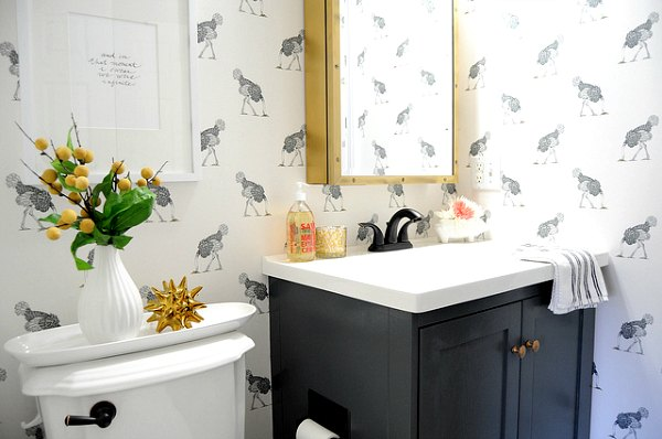 Vinyl-Coated Bathroom Wallpapers